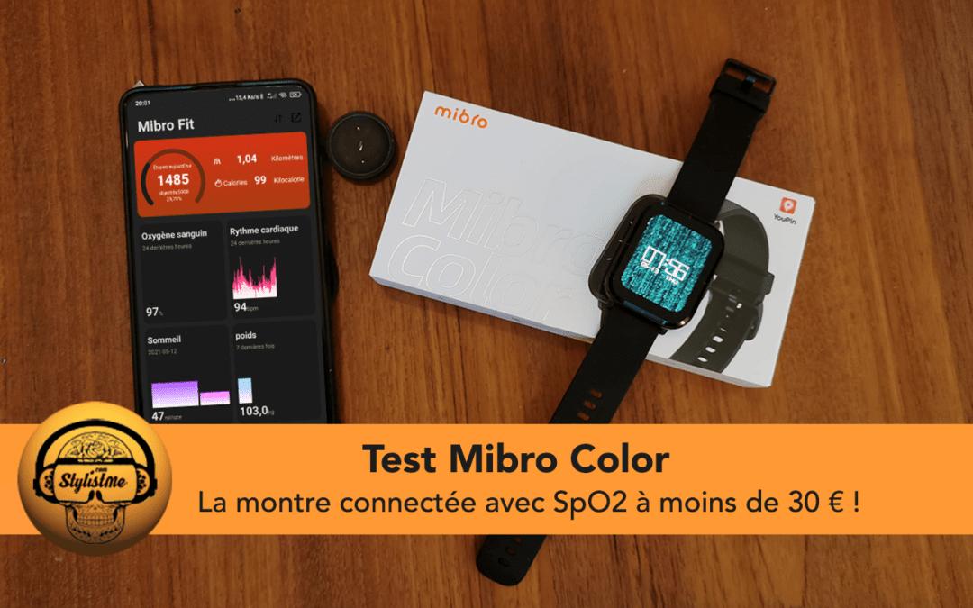 Mibro Color la montre connectée avec SpO2 à moins de 30 €