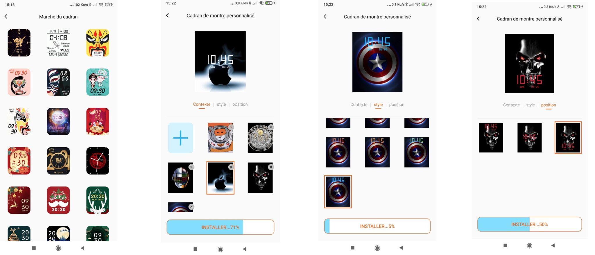 Mibro Color test personnalisation écran