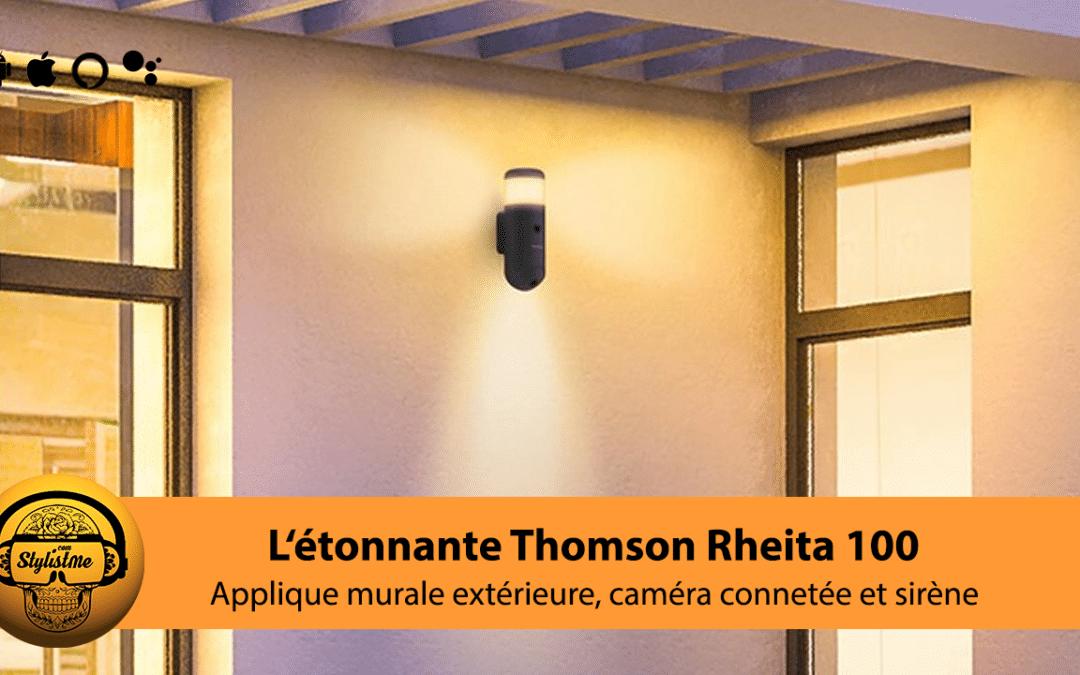 Thomson Rheita 100 caméra de surveillance dans une applique murale