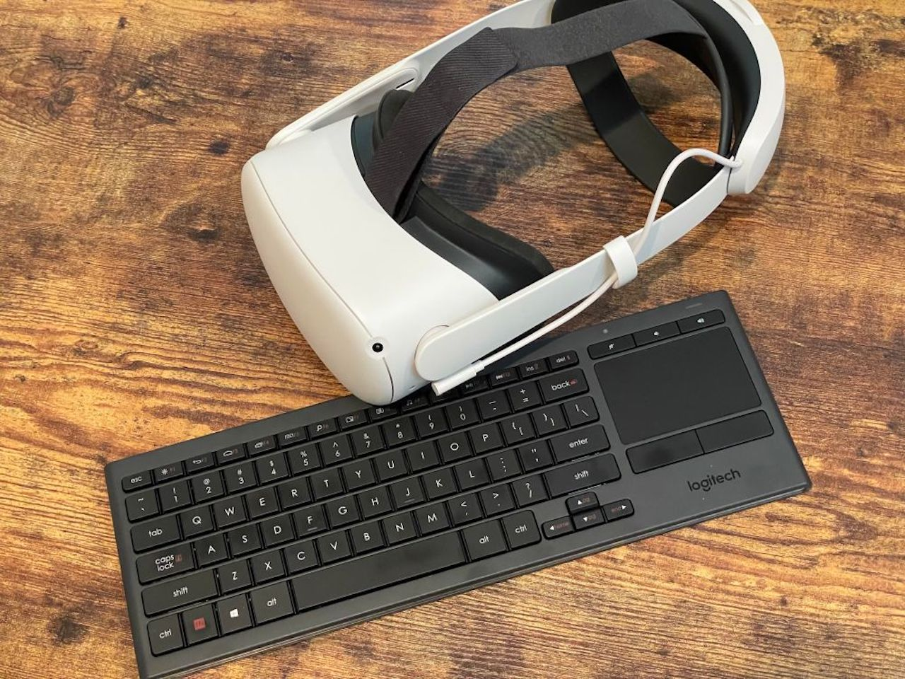 Oculus Quest clavier Logitech test