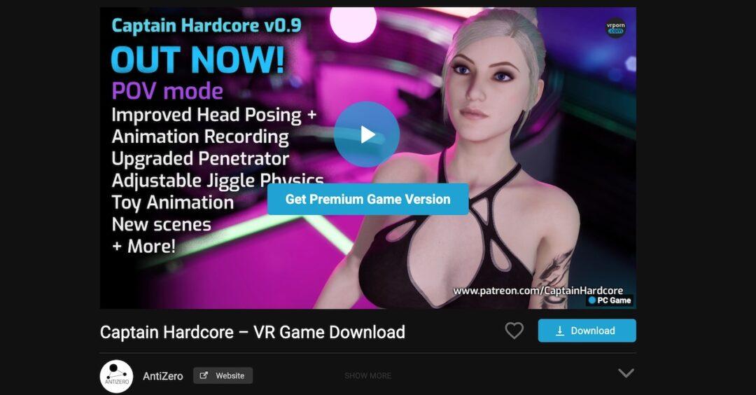 Captain Harcore meilleur jeu porno vr Quest