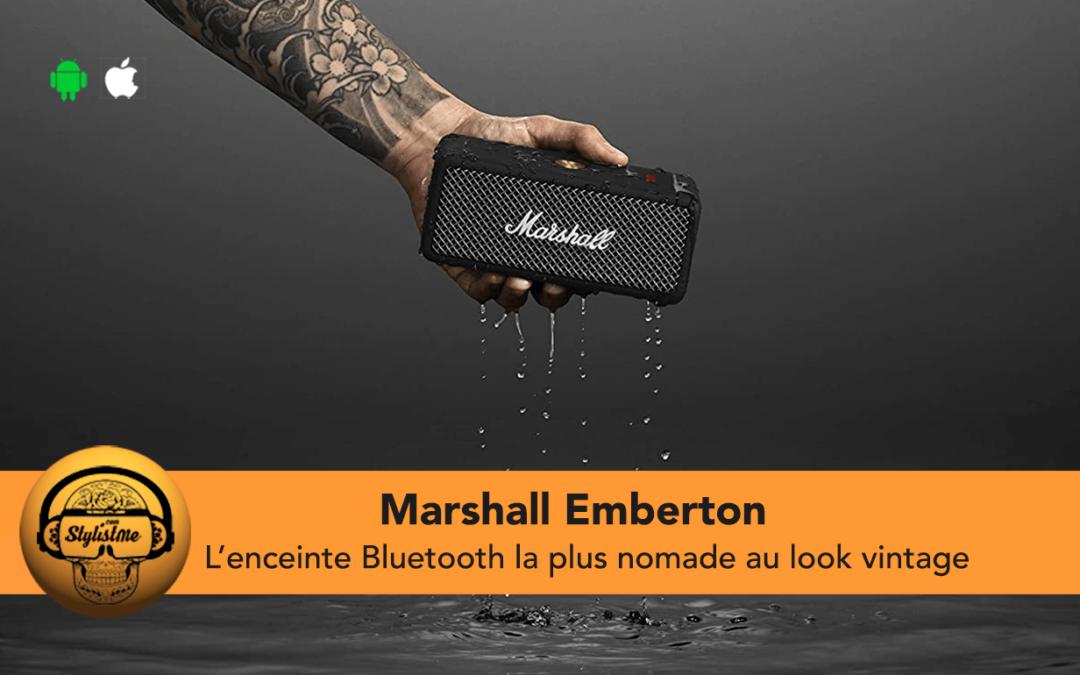 Marshall Emberton test de la mini enceinte portable Bluetooth vintage