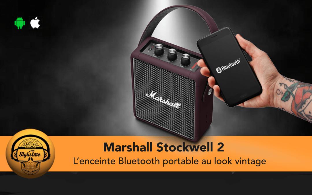 Marshall Stockwell 2 test de l'enceinte portable Bluetooth vintage