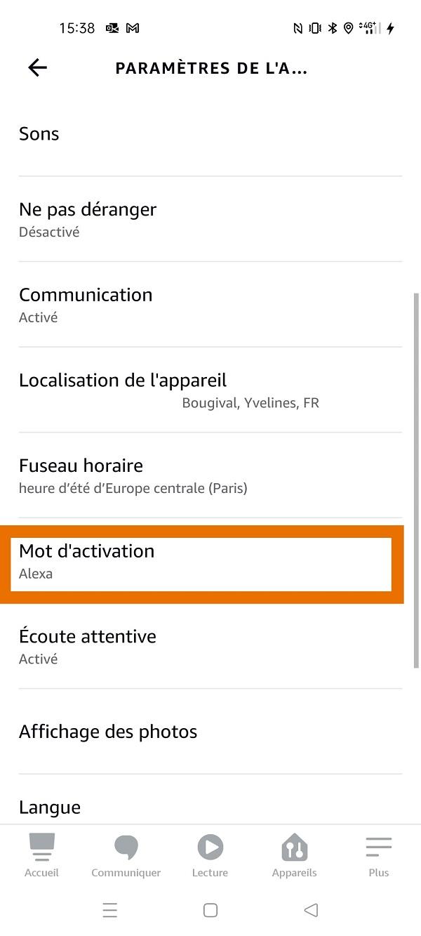 Alexa changer mot activation Ziggy