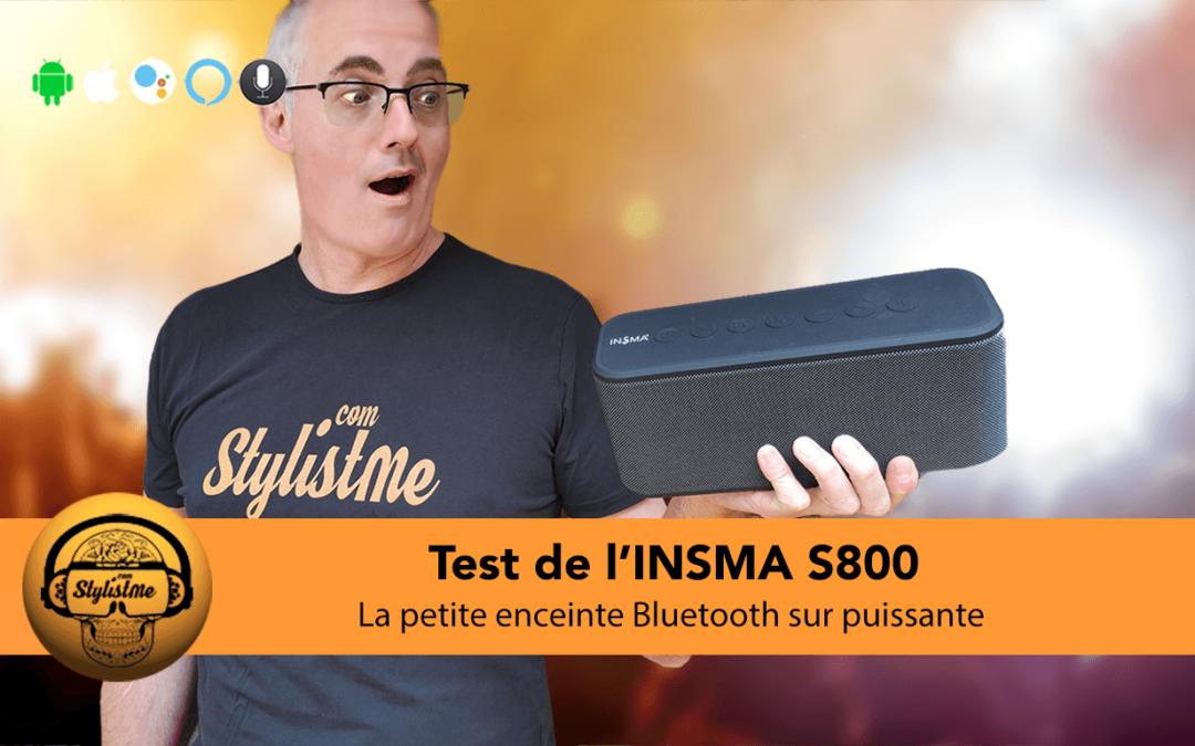INSMA S800 test et avis de la puissante et compacte enceinte Bluetooth