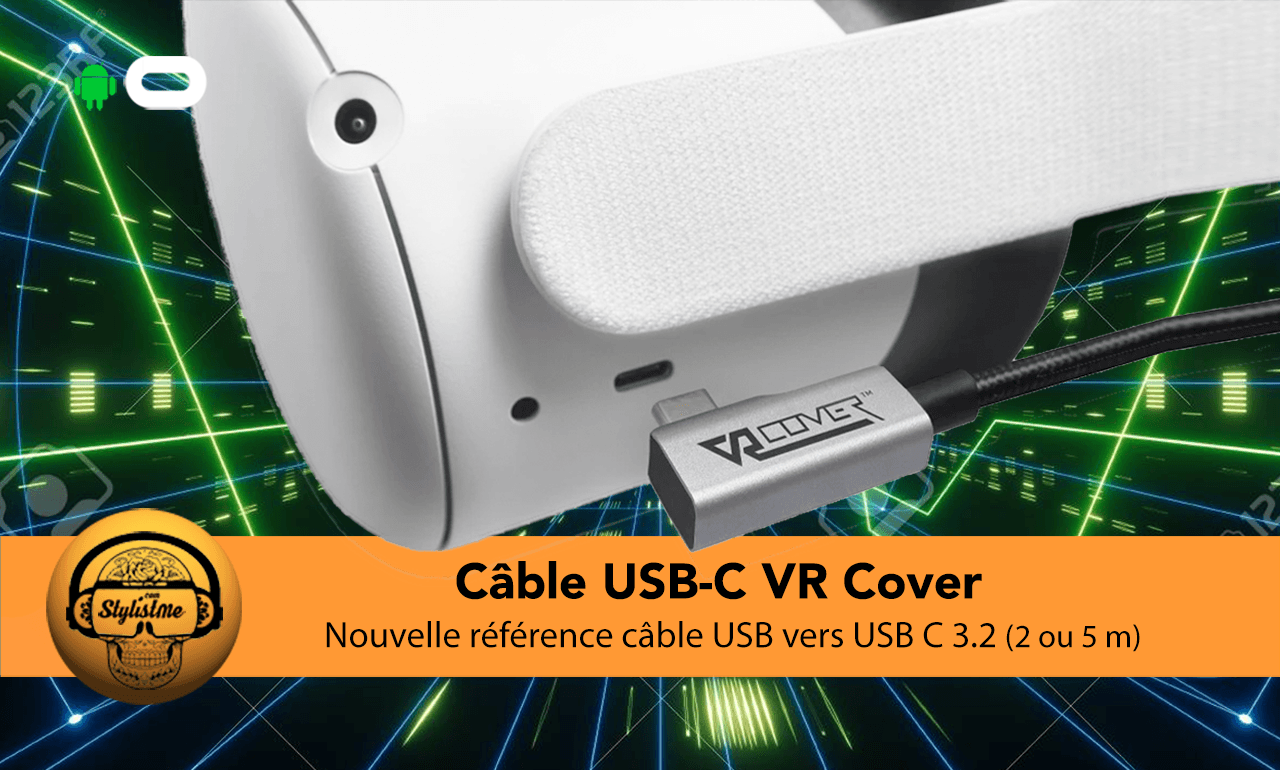 VR Cover cable USB C Quest 2 Link
