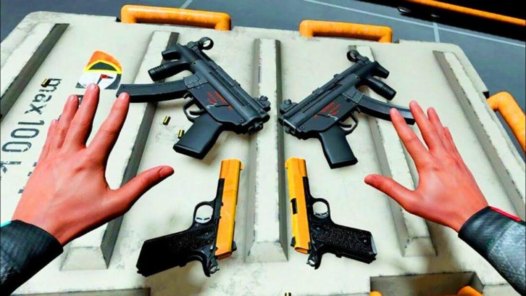 Boneworks VR choix des armes
