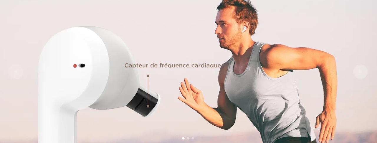 écouteurs avec capteur fréquence cardiaque