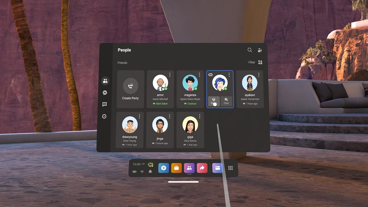 Oculus V32 gestion amis