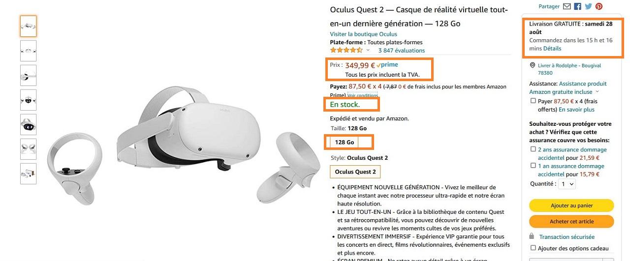 Ou Acheter Oculus Quest 2 128