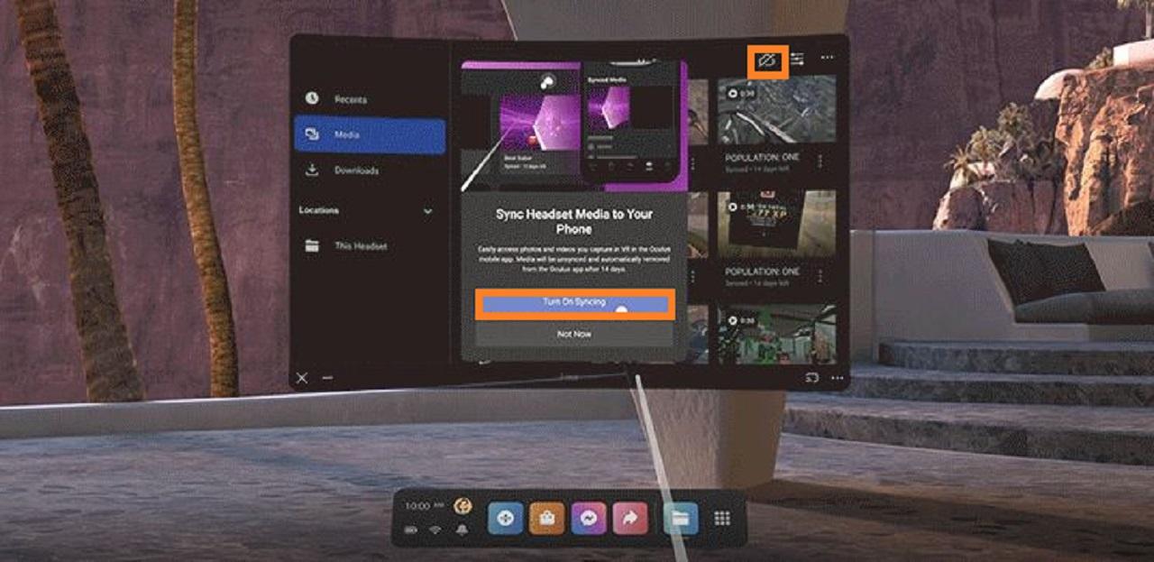Synchronisation smartphone Oculus V 32