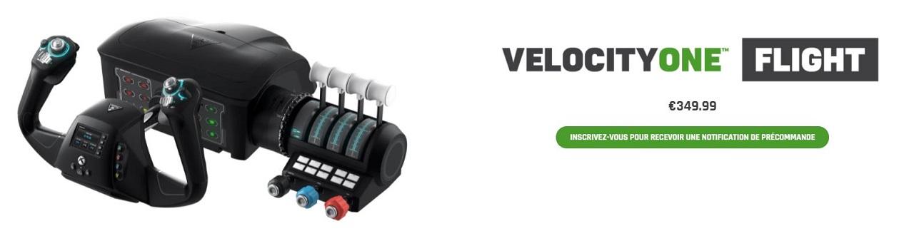 VelocityOne Flight prix date