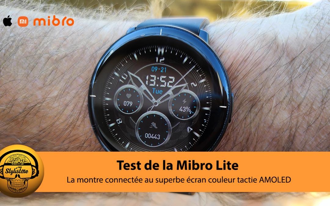 Mibro lite la montre connectée fine au superbe grand écran AMOLED et mini prix