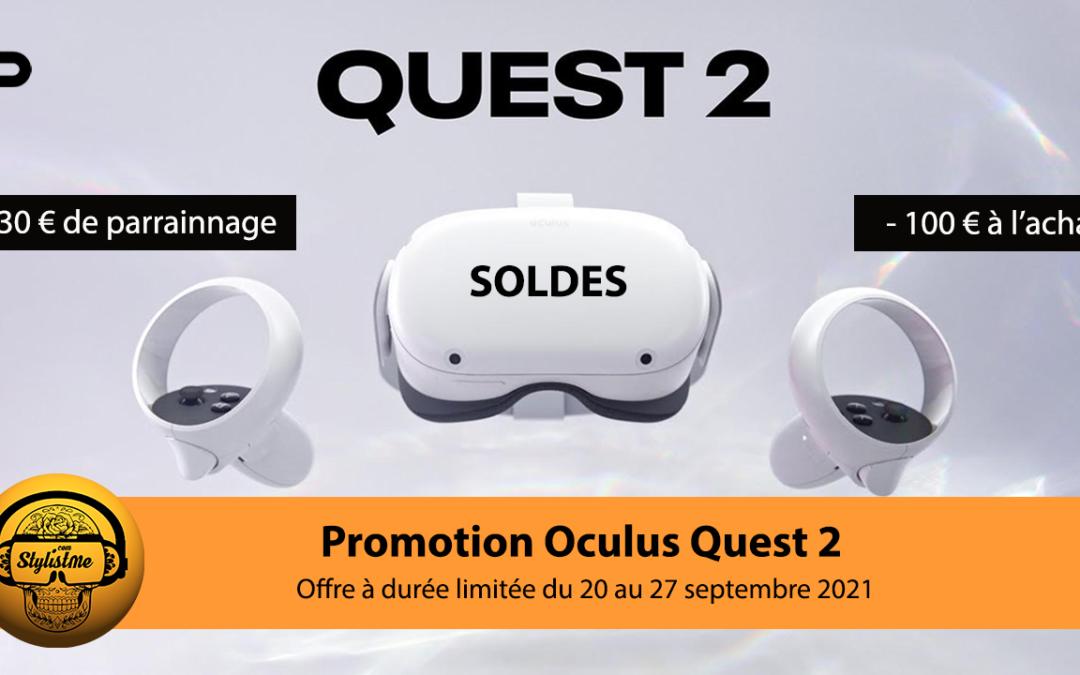 Réduction Oculus Quest 2 jusqu'au 27 septembre 2021 économisez 100 euros !